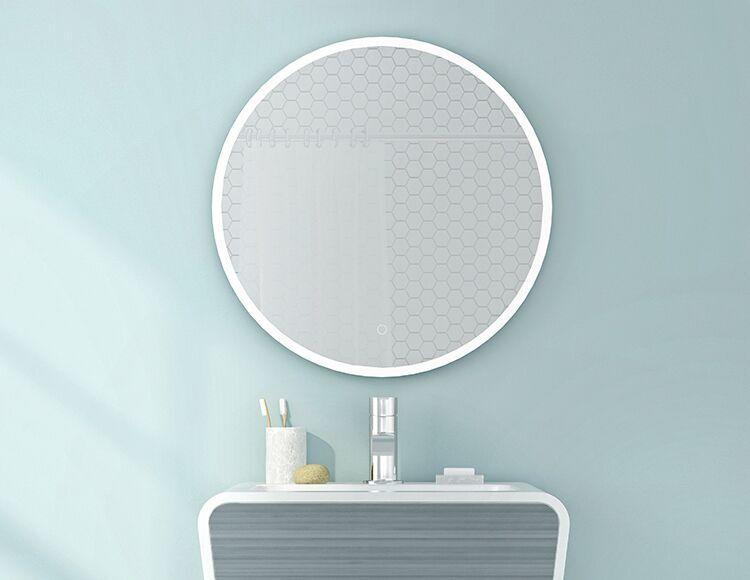 round lighted mirror halo