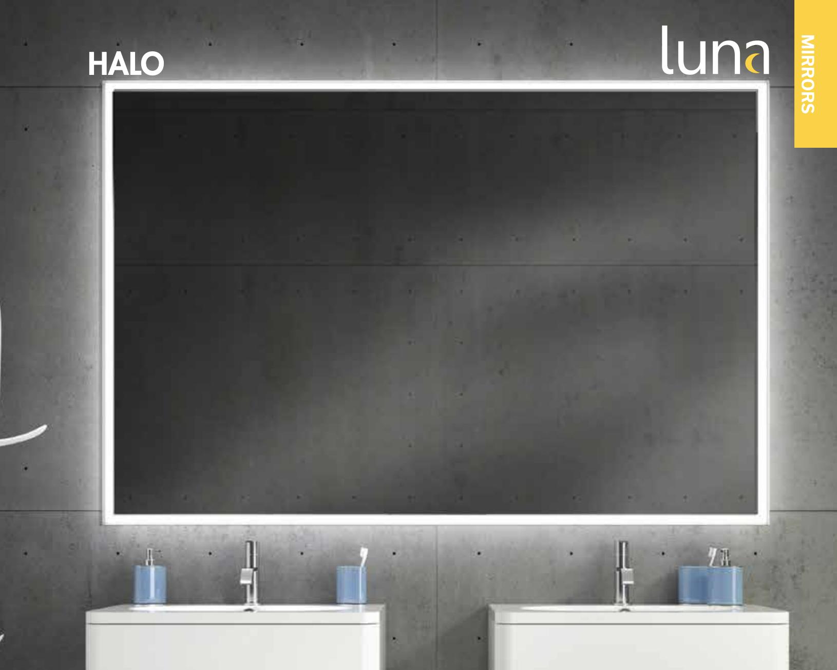 Fluerco halo lit mirrors