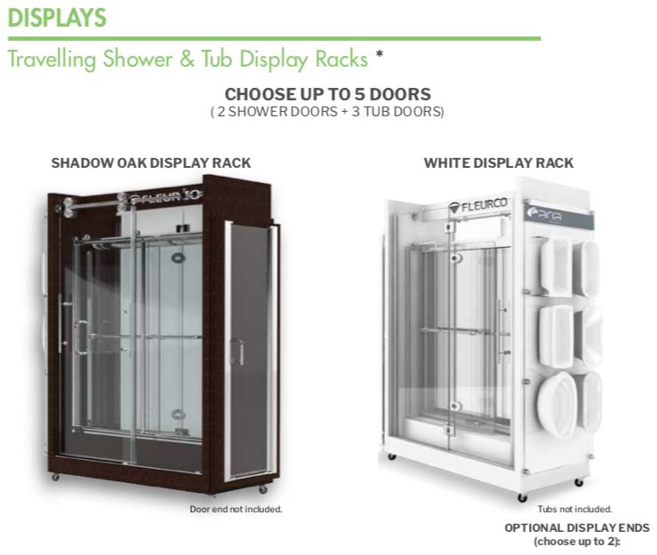 Shower Door Showroom Display Example Image