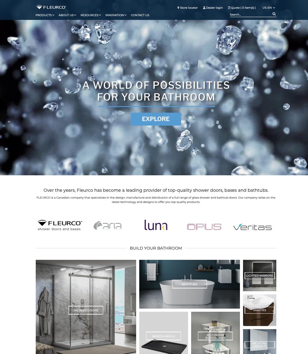 2019 Fleurco Website Shower Doors and Bathtubs