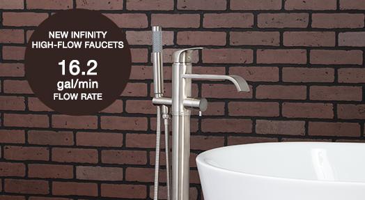 Maidstone High-Flow Infinity Bathtub Faucets